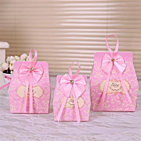 pink bridal shower gift bags 50pcs pink boxes favors wedding box