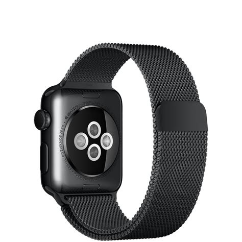 Apple Space Black Stainless Steel Wth Space Black Milanese 42mm apple 38mm space black stainless steel with space black milanese loop apple