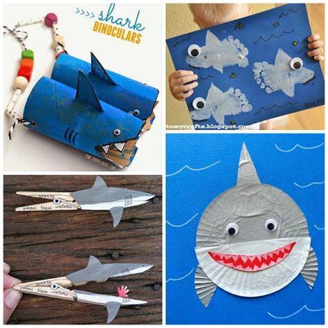 shark craft projects for crafts for and sharks on