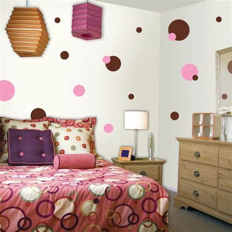 polka dot wall decals for rooms pink brown polka dot wall decals for room walls