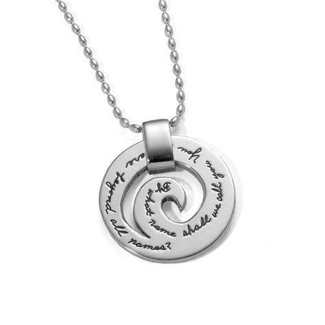 inspirational necklace you who are beyond all names