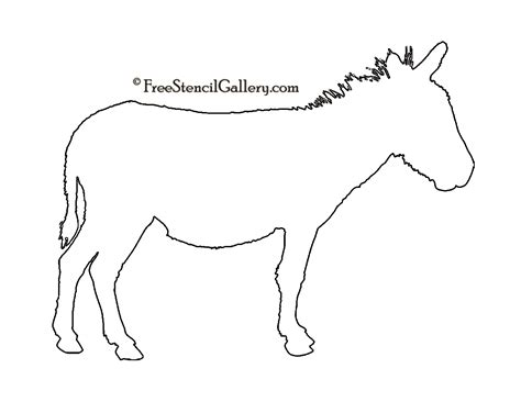 printable donkey templates donkey silhouette stencil 02 free stencil gallery