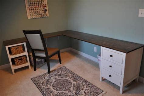 love   shaped desk craft room build