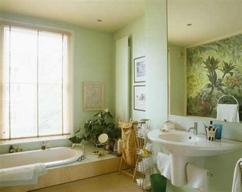 Window Treatment Ideas For Bathrooms by Green Bathroom Photos 31 Of 54 Lonny
