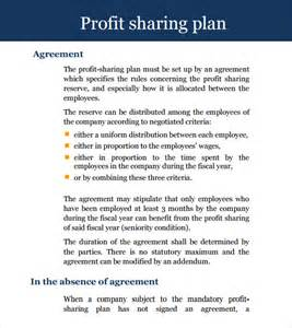 Agreement Letter For Profit Profit Agreement 9 Free Sles Exles Format