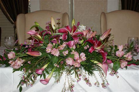 felthousens florist greenhouse wedding head table