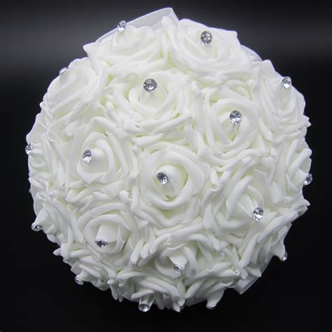 Wedding Bouquet Stores by Aliexpress Buy Lovely White Wedding Bouquet Bridal