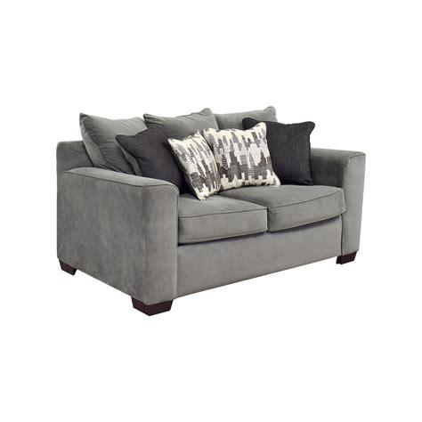 bobs furniture bobs furniture grey loveseat sofas