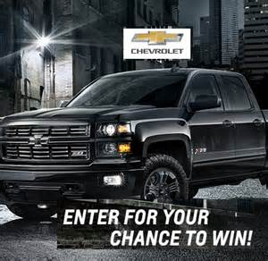 chevrolet silverado sweepstakes 2015 win a truck sweeps