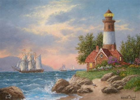 bob ross painting lighthouse 17 best images about dennis p lewan on