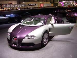 Purple Bugatti Veyron Car That Three Bugatti Veyrons