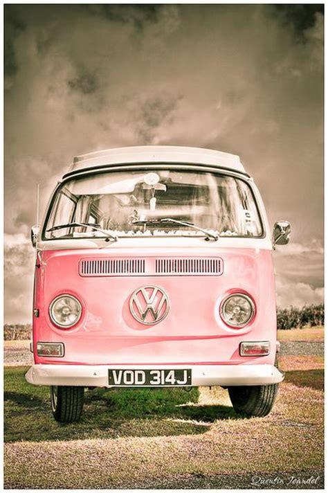van volkswagen pink vw van flickr photo sharing kombi pinterest