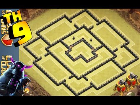 layout cv9 war youtube clash of clans melhor layout cv9 de guerra best th9