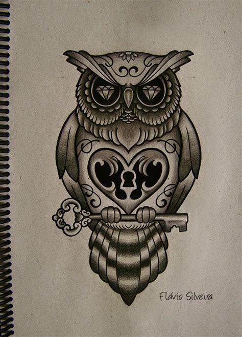 owl tattoo with lock and key meaning tatuajes de b 250 hos significado e ideas originales