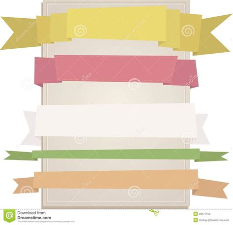 design header paper header origami tag paper craft stick ribbons place your
