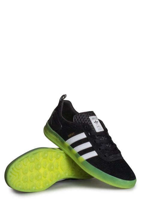 green and black shoes adidas palace pro chewy cannon shoe black white green