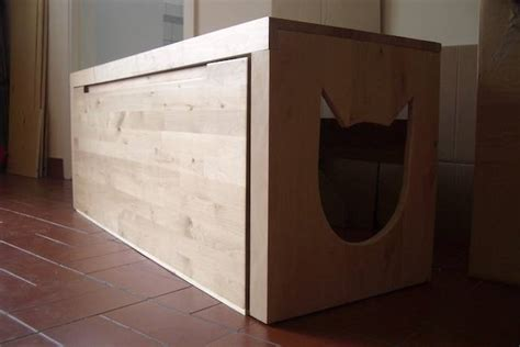 wooden cat toilet litterbox cabinet litter box enclosures for cats homesfeed