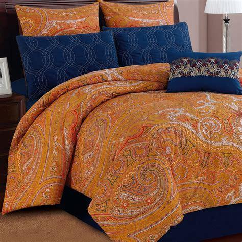 paisley comforter queen u s polo assn shanti paisley bedding set queen 7
