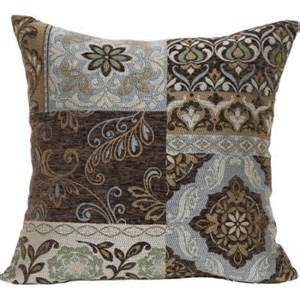 better homes and gardens blue and brown floral decorative