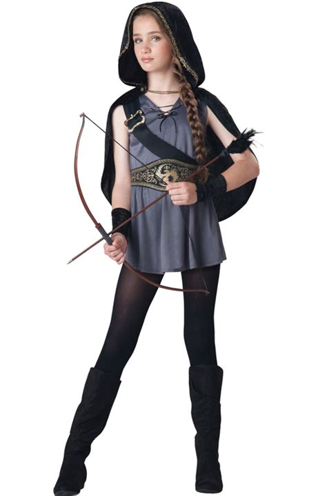 tween costumes purecostumescom hooded huntress tween costume purecostumes com