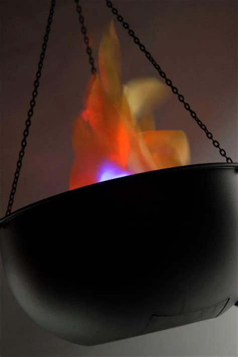 battery powered flame light cauldron flame light led battery operated simulated fire