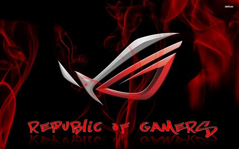 gamers logo wallpaper asus rog logo wallpaper