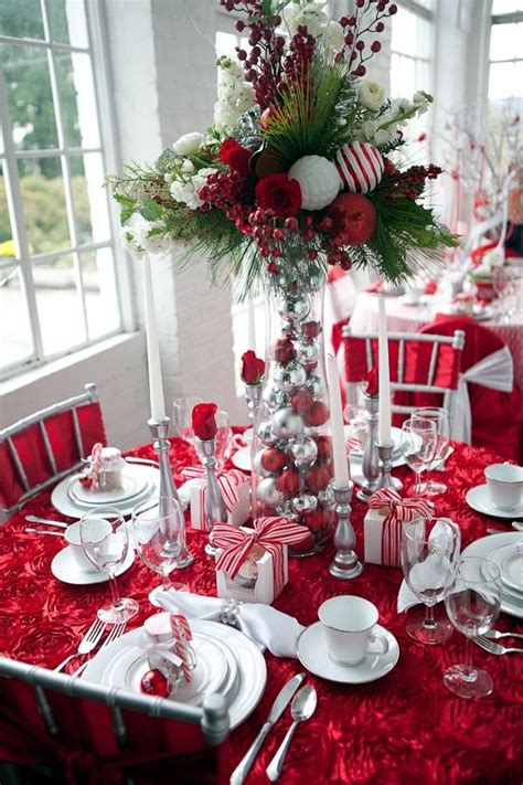 ideas for table decorations 40 christmas table decoration ideas