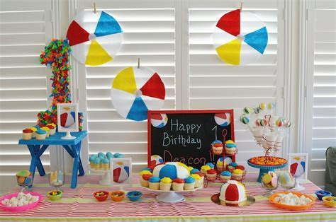 Kara's Party Ideas Beach Ball Themed Birthday Party