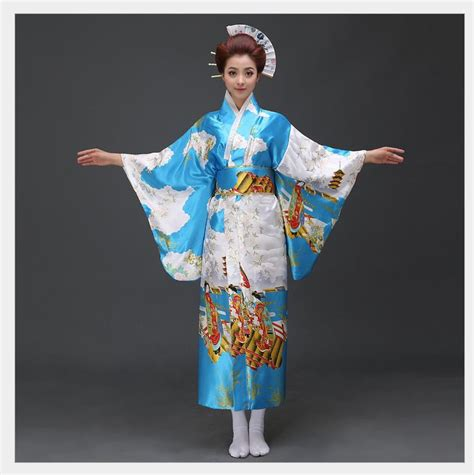Dress Obi 2in1 Flower classic traditional floral kimono yukata with obi vintage prom dress japanese