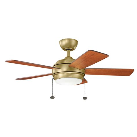 led ceiling fan light kit starkk natural brass 42 inch led ceiling fan with light