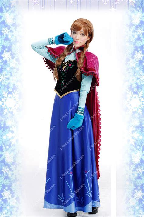 kostum princess anna frozen cheap frozen disney movie cosplay anna costume outfit