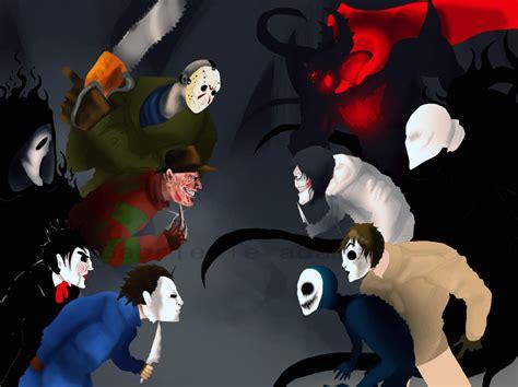 imagenes de jack vs jeff the killer fright battle by coffee for the dead on deviantart