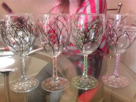 wine glass craft projects 35 best images about wine glasses on large