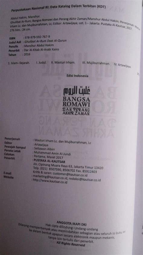 Bangkit Dan Runtuhnya Daulah Abbasiyah Muhammad Al Khudari buku bangsa romawi dan perang akhir zaman