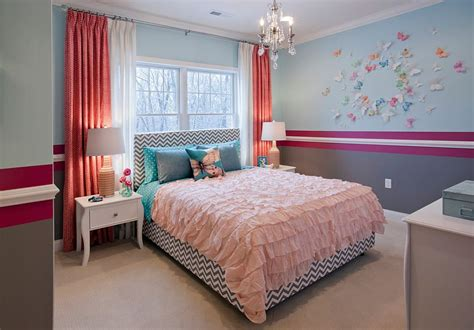 cute bedrooms for girls 25 kids bedrooms showcasing stylish chevron pattern