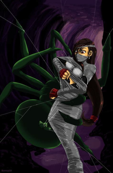 Anime Heaven Web Tifa In The Spider S Grasp By Burnup19 On Deviantart