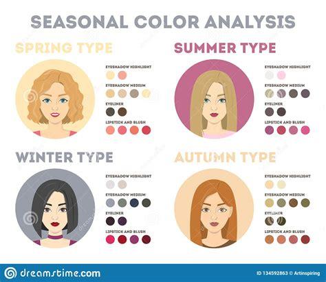 seasonal color analysis seasonal color analysis winter and autumn summer stock
