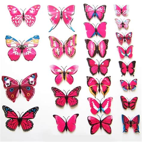 3d butterfly stickers for walls 12pcs art decal home room wall stickers 3d butterfly