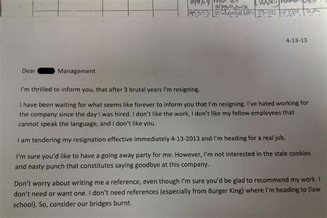 Resignation Letter Kitchen Staff Smart Lawyers Dumb At Part 2 Leaving The