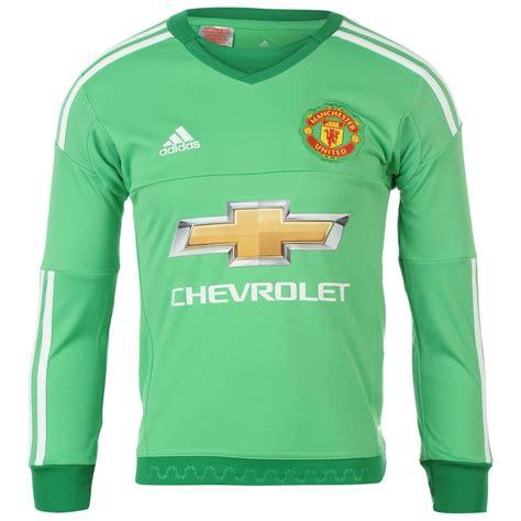 Jersey Manchester United Gk Go New Season 2017 18 Gra Berkualitas adidas manchester united goalkeeper home jersey 2015 2016 juniors lime football