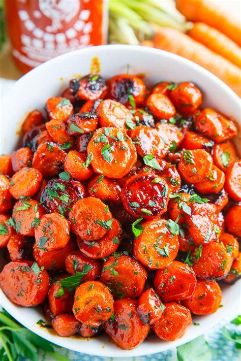 honey sriracha roasted carrots on closet cooking