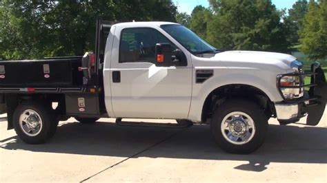 f250 truck bed hd video 2008 ford f250 xlt 4x4 flat bed utility truck for