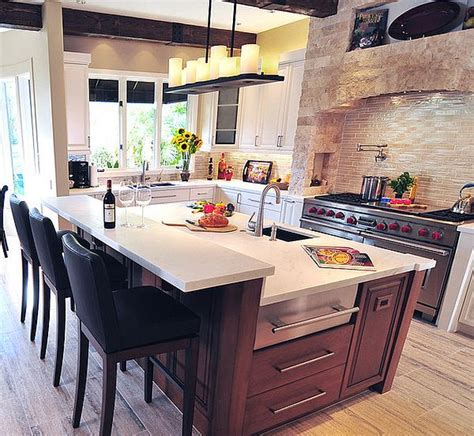 kitchen with an island design kitchen island design ideas types personalities beyond function