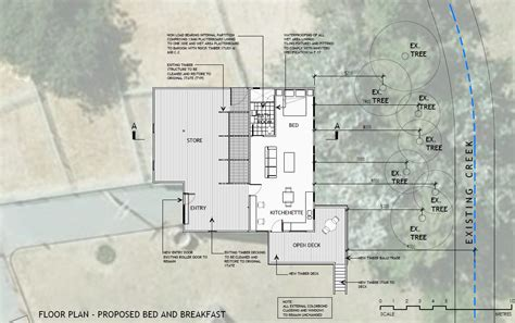 bed and breakfast floor plans non complying change of use in primary production zone