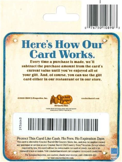 Cracker Barrel Gift Cards Where To Buy - cracker barrel gift card 50 arts entertainment party celebration giving cards