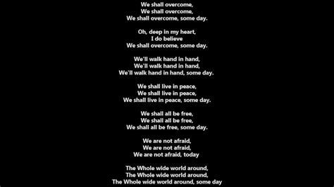 testo my song we shall overcome lyrics