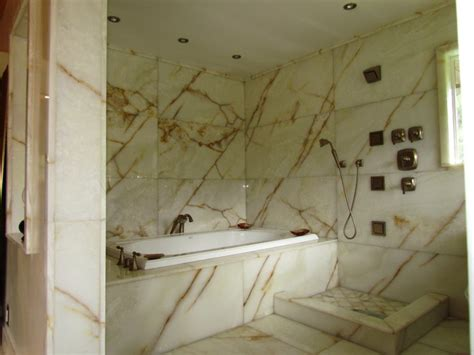 Onyx Bathroom by White Onyx Master Bathroom Modern Bathroom Seattle