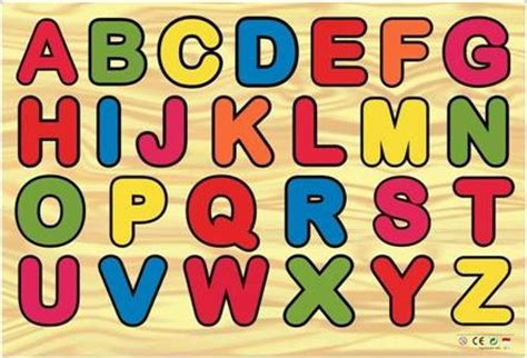 Chunky Puzzle Alfabet Besar mainan wooden toys wooden puzzles series