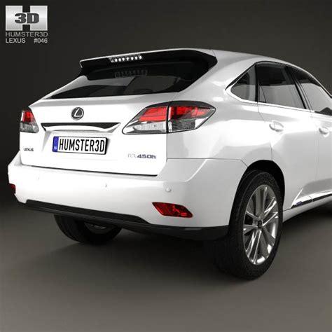 lexus hybrid 2012 lexus rx f sport hybrid 2012 3d model hum3d
