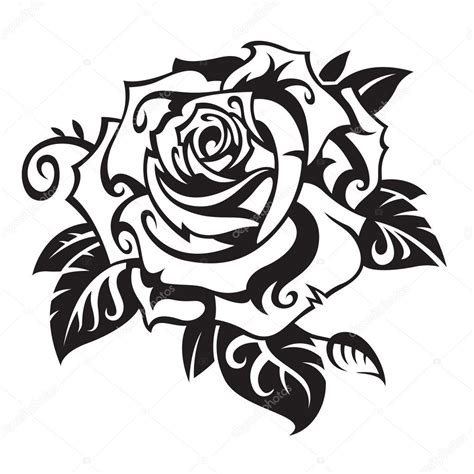 black rose stock vector 169 alexkava 9923021